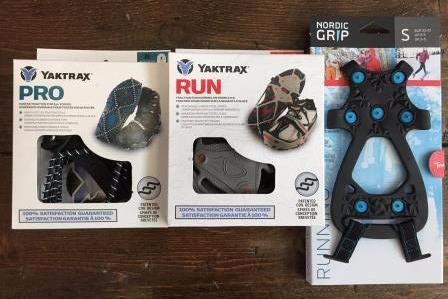 YakTrax Pro, YakTrax Run, and Nordic Grips